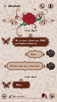 (FREE) GO SMS ROSE TATTOO THEME screenshot 2