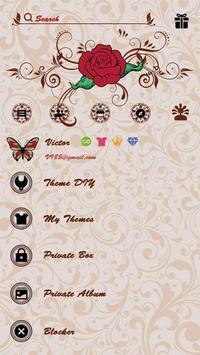 (FREE) GO SMS ROSE TATTOO THEME screenshot 4