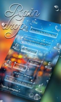 (FREE) GO SMS RAINDROP THEME poster