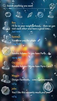 (FREE) GO SMS RAINDROP THEME screenshot 1