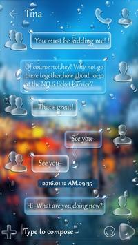 (FREE) GO SMS RAINDROP THEME screenshot 2