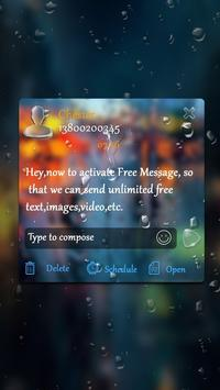 (FREE) GO SMS RAINDROP THEME screenshot 3
