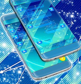 Free Blue SMS Theme apk screenshot