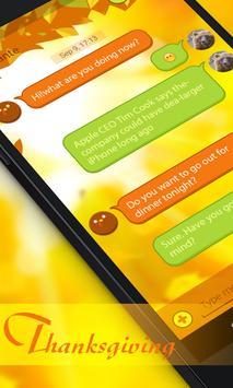 GO SMS THANKSGIVING THEME poster