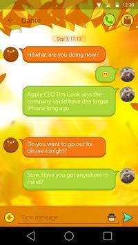 GO SMS THANKSGIVING THEME apk screenshot