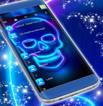 Neon SMS Skull Theme screenshot 4