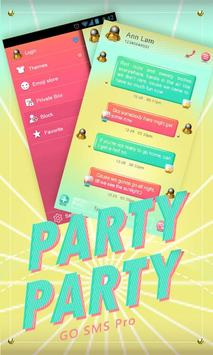 (FREE) GO SMS PARTYPARTY THEME poster
