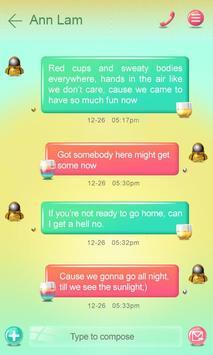 (FREE) GO SMS PARTYPARTY THEME apk screenshot