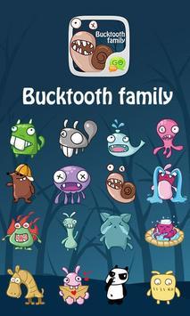 GO SMS Pro BuckTooth Sticker poster