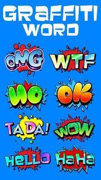 GO SMS GRAFFITI WORD STICKER apk screenshot