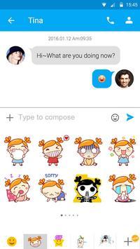 (FREE) GO SMS NINA STICKER apk screenshot