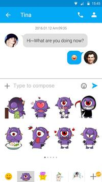 (FREE) GO SMS DEVIL STICKER apk screenshot
