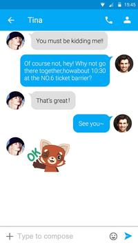 (FREE) GO SMS RED FOX STICKER apk screenshot