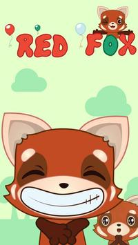 (FREE) GO SMS RED FOX STICKER poster