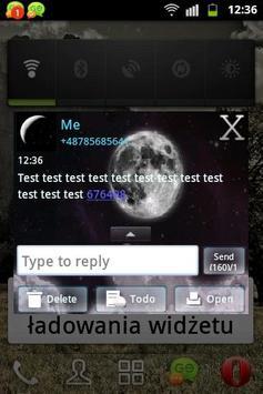 Night Moon GO SMS Theme apk screenshot
