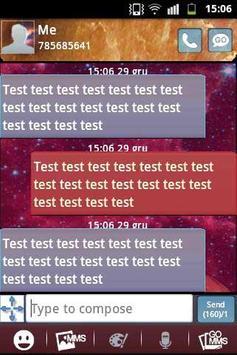 Galaxy Theme GO SMS PRO apk screenshot