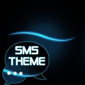 Blue Simple Theme GO SMS icon