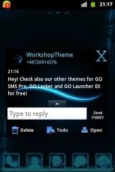 Blue Simple Theme GO SMS apk screenshot