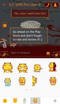Bats and Cats for GO SMS screenshot 4