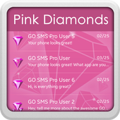 Pink Diamonds for GO SMS icon