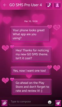 Pink Love HD for GO SMS screenshot 3