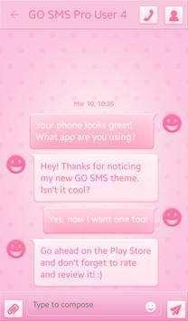 Pink Spots for GO SMS screenshot 2