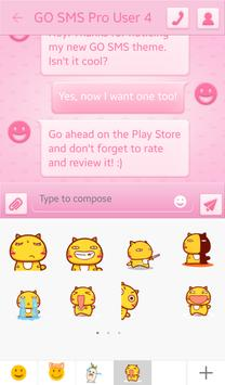 Pink Spots for GO SMS screenshot 4