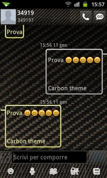 GO SMS Pro Carbon Fiber Theme apk screenshot