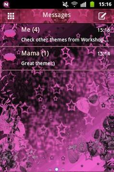 Pink dark star go sms theme apk download free personalization app pink dark star go sms theme poster altavistaventures
