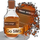 Neon orange S.M.S. Theme icon
