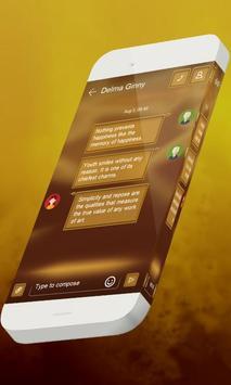 Neon orange S.M.S. Theme apk screenshot