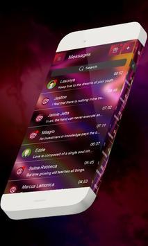 Neon purple S.M.S. Theme apk screenshot