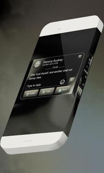 Black caramel S.M.S. Theme apk screenshot