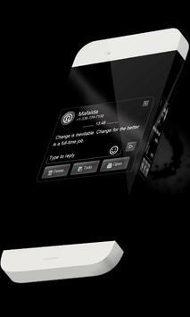Black line S.M.S. Theme apk screenshot