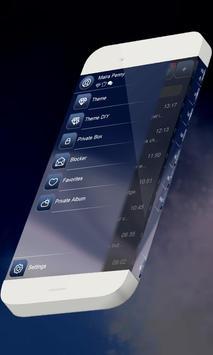 Blue calm S.M.S. Theme apk screenshot