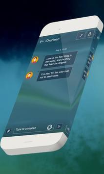 Blue candy S.M.S. Theme apk screenshot