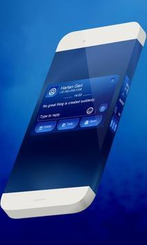 Blue aurora S.M.S. Theme apk screenshot