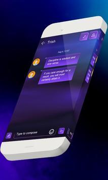 Blue memento S.M.S. Theme apk screenshot