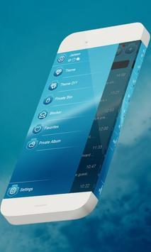 Blue party S.M.S. Theme apk screenshot