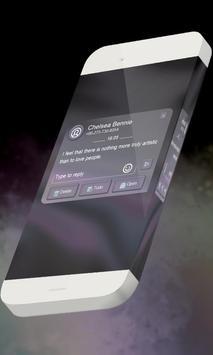 Bright grey S.M.S. Theme apk screenshot