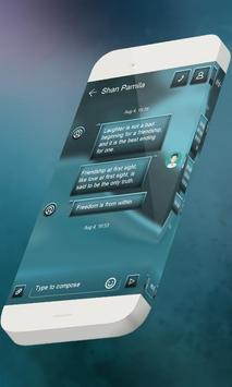 Cyan S.M.S. Theme apk screenshot