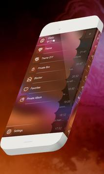 Electric violet S.M.S. Theme apk screenshot