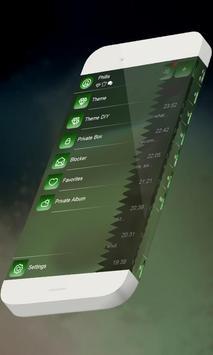 Fast green S.M.S. Theme apk screenshot