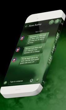 Green mint S.M.S. Theme apk screenshot