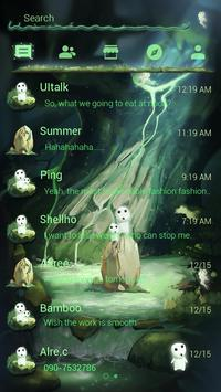 GO SMS PRO DAWN FOREST THEME apk screenshot