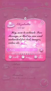 GO SMS PRO PINK DREAM THEME apk screenshot