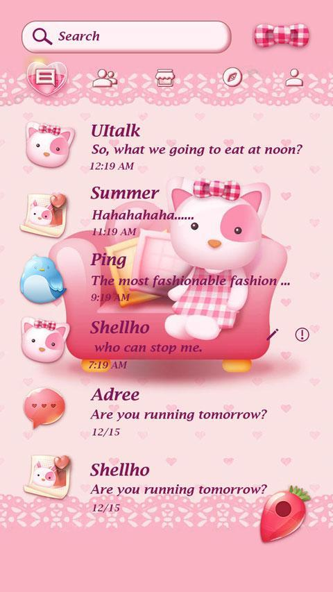 GO SMS PRO PINK KITTY THEME for Android - APK Download