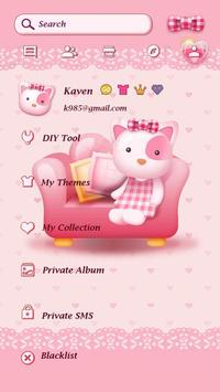 GO SMS PRO PINK KITTY THEME apk screenshot