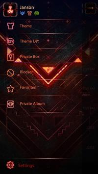 GO SMS PRO RED FORGE THEME apk screenshot