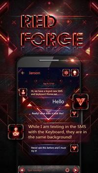 GO SMS PRO RED FORGE THEME poster